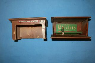 2 American Flyer 271 Mini - Craft Whistle Stop Waiting Room Sheds.  For Parts/comp