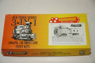 Roundhouse Ho Old Timer Series 3 - In - 1 Craft Kit 1515 Rotary Snow Plow & Tender