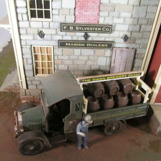 O Scale On30 1:43 Scale Painted & Weathered Ford Thorny - Craft Beer Truck