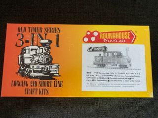 Ho Scale Roundhouse Products 3 - In - 1 Logging Climax Craft Kit