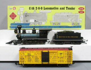 Aristo - Craft 80202 G D&rgw C - 16 2 - 8 - 0 Steam Loco & Tender With Sound And Battery