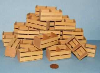 28 G Scale Empty Wood Crates For Model Train Layouts & Displays And Crafts