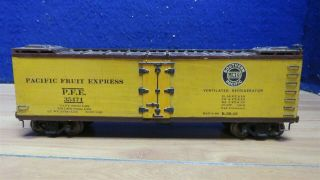 "Scale Craft O Scale 2 Rail Kit Built Wood Pacific Fruit Reefer 10 1/2 "" 596771"