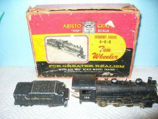 Aristo - Craft Ho 4 - 6 - 0 Steam Locomotive & Tender - Jersey Central - Does Not Run
