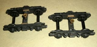 Vintage O Scale Metal Trucks,  Scale Craft,  4 - Wheel,  For Passenger Car