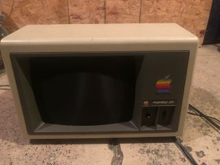 Apple Iii Monitor A3m0039 Monochrome Green Phosphor Crt Display