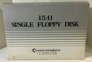 Commodore Computer 1541 Single Floppy Disk Drive And