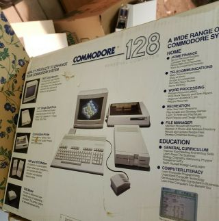 Commodore 128 Computer.  In The Box.  All Set Up.