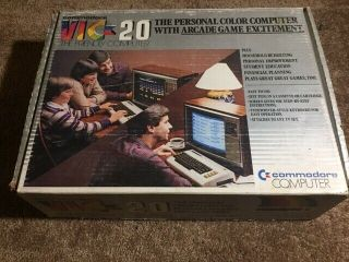 Commodore Vic 20 Computer W/ Books (s) W/ A/v Lead - Tested/works
