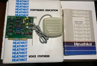1990 Heathkit Voice Synthesis Hv 2000 Card And Documentation