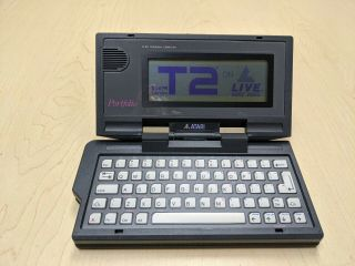 Atari Portfolio Terminator 2 Pin Program Pocket Handheld Computer