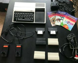 Texas Instruments Ti - 99/4a With Joysticks,  Hookups,  6 Games