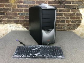 Soyo Dragon Atx Mid - Tower Computer Case With Power Supply & Keyboard | Nos