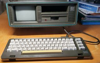 Vintage Commodore Sx - 64 Portable Computer With Over 100 Floppies Boots Up