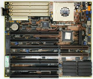 Asus Vli - 486sv2gx4 Rev 2.  1 486 Motherboard Isa Vlb Supports Am5x86