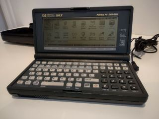 Vg Cond.  Hewlett Packard Hp 200lx 2mb Ram With Correct Power Supply & Soft Case