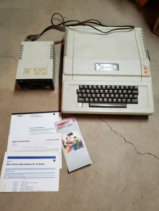 """Apple Ii Plus Computer A2s1016 And A2m0003 5.  25 """" Floppy Disk Drive -"""