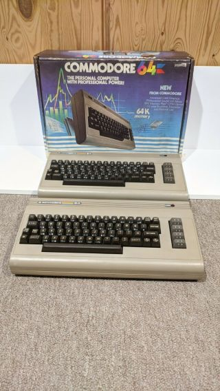 2 Commodore 64 Computers,  Good Cosmetic Shape