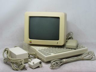 Apple Macintosh Iic A2s400 Computer W/ Monitor And Mouse
