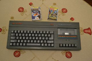 Sinclair Zx Spectrum,  2 128k Grey Model With Two Games