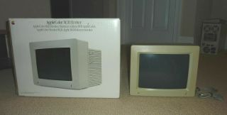 Apple Color Rgb Monitor Model A2m6014 With Box,  Great