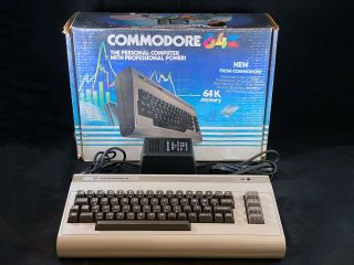Early Commodore 64 Silver Label Computer - Fully W/ Power Supply & Box