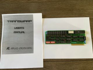 Transwarp Accelerator Card Ae (applied Engineering) 1.  3 For Apple Ii Computers