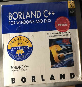 "Borland C,  For Windows Dos Version 3.  1 Includes Both C & C,  3.  5 "" Diskettes"