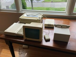 Apple Iic - Computer,  Monitor,  Printer,  Mouse,  Disc Drive - All In Boxes