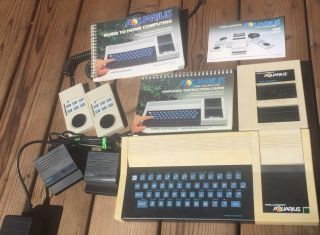 1982 Mattel Aquarius Home Computer - 2 Controllers,  Expander,  2 Game Cartridges