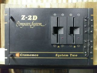 "Cromemco Z - 2d Rackmount Case W/power Supply,  Backplane,  (2) Dps - 1 5.  25 "" Floppy"