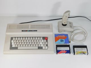 Vtg Radio Shack Tandy Coco 26 - 3334 128k Color Computer 3,  3123 Joystick 2 Games