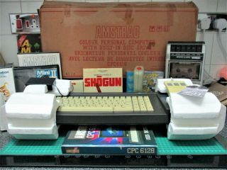 Boxed Amstrad Cpc6128 Computer (serviced,  Belt) Games,  Mouse,  Joystick,  Tape