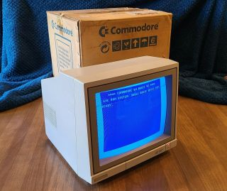 Commodore 1902a Monitor - Commodore Box - For 64/128 - - Vintage Great Shape