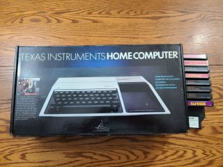 Texas Instruments Ti - 99/4a Computer Complete 9 Games Synthesizer