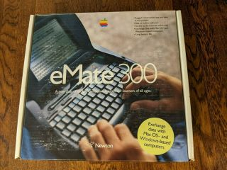Apple Newton Emate 300 With Box And Accessories Laptop Umpc Pda