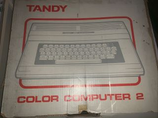 Tandy Radio Shack Coco2 Color Computer 2 Trs - 80 In Open Box 64k Basic