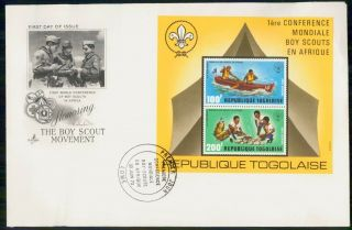 Mayfairstamps Togo Fdc 1973 Boy Scouts Combo Art Craft First Day Cover Wwk_59471