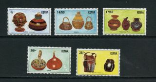 V176 Kenya 1995 Art Crafts 5v.  Mnh