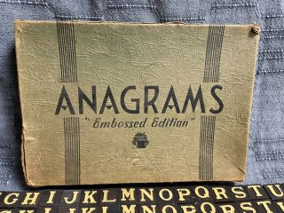 Vintage Anagrams Game Embossed Edition 137 Tiles - Great To Play Or For Crafts